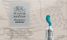 Winsor & Newton Designers' Gouache Primary Color 6-tube Paint Set 14ml