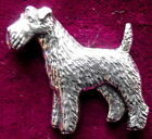 Quality Pewter Fox Terrier Brooch Pin  Signed