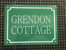 PERSONALISED House Name / Number METAL SIGN ANY COLOUR AND TEXT