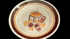 H B QUIMPER  Plate with Stylized Painting of Pitcher, Glass and Pipe