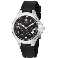 Victorinox Swiss Army 241462 Men's Active Base Camp Black Dial Date Rubber Strap