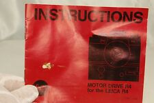 Instrucions Book Vintage for Leica Motor Drive R4 camera Guide Manual R45311054