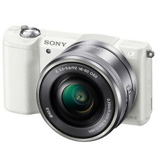 New SONY Alpha A5000 NFC Wi-Fi Mirroless Digital Camera *White with 16-50mm Lens