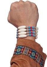 Native American Warrior Tonto Indian Bracelet Costume Accessory Bone Beads