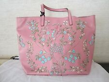 NWT - RED VALENTINO FLOWER EMBELLISHED LEATHER TOTE BAG