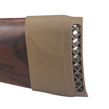 Tourbon Gun Recoil Pad Rubber Slipon Butt Stock Extension Buttpad Absorber Brown