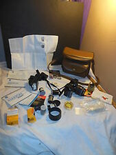 MINOLTA 7000i 35MM FILM CAMERA MAXXUM FLASH 3200i CASE LENS FILTER SIGMAUC ZOOM