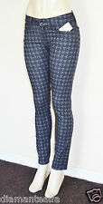 GUESS Women's Brittney Skinny Ankle Jeans with Houndstooth Print sz 27