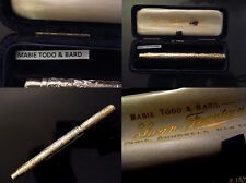 1890 SOLID GOLD 18K MABIE TODD SWAN eyedropper TERRIFIC hand made fountain pen
