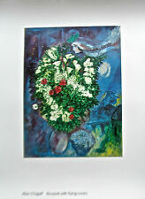 Marc Chagall Poster Bouquet of Flowers from Tate UK Flowers and Lovers 30x23.5""