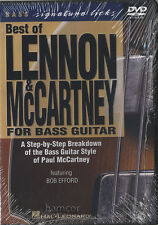 Best of Lennon & McCartney for Bass Guitar DVD Learn How to Play The Beatles