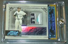 2005 MIGUEL CABRERA PLAYOFF PRIME CUTS NUMBER JERSEY AUTO #21  4/5