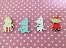 Moomin Valley Characters Wooden Magnet 4 Pieces set  A