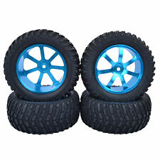 95mm RC 1/10 Short Course Rally Truck Off-Road Tires Metal Wheels Rim Blue M07B7