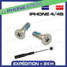 KIT de 2 Vis pour IPHONE 4 4S (les 2 vis du bas) + Tournevis TORX