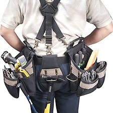 Carpenter Contractor Electrician Construction Tool Belt Pouch Pocket Storage Bag