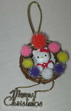 Hello Kitty Merry Christmas Wreath Ornament Approx 2""
