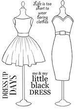 Woodware Clear Singles Rubber Stamp - Little Black Dress JGS499