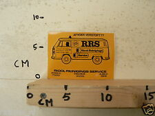 STICKER,DECAL RRS VW TRANSPORTER BUS T3  CAR BUS A VOLKSWAGEN