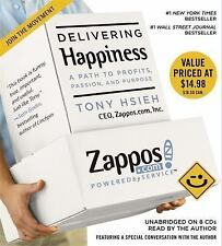 NEW Delivering Happiness by Tony Hsieh Audio CD Book (English) Free Shipping