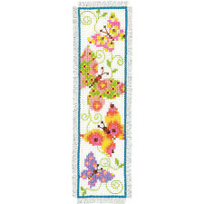 Butterflies-1: Vervaco Counted Cross Stitch Kit : Bookmark -  PN0021727