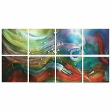 Large Rainbow Art Abstract Wall Tiles Colorful Painting Print Modern Home Decor