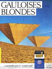 Publicité advertising 1985 Les Cigarettes Gauloises Blondes