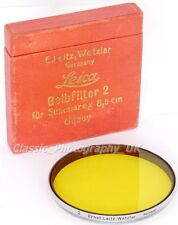 Leitz UQOOY Yellow 2 58mm Filter for Leica Summarex f=8.5cm 1:1.5 HEKTOR 12.5cm