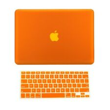 "2 in 1 Rubberized ORANGE Hard Case for Macbook PRO 13"" A1278 with Keyboard Cover"