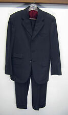 EUC vtg Tom James Bespoke Holland & Sherry Suit Surgeon Cuff charcoal 37R 33x31