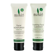 SUKIN 1x FOAMING FACIAL CLEANSER 50ml +1x FACIAL MOISTURISER 50ml for All Skin