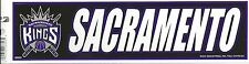 SACRAMENTO KINGS NBA LICENSED BUMPER STICKER NEW
