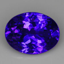 VVS 7.05CT 100% Natural Unheated AAAAA Violet Blue Tanzanite D'Block QTEg12R