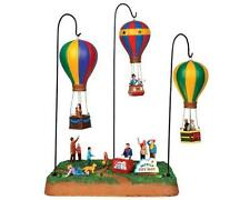 """Lemax Village Collection """"Sky-High City Park Hot Air Balloon Scene with 4.5V Ada"""