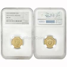 Ukraine 2015 Archangel Michael 1/4 oz 5 Hryven Gold NGC MS70