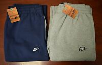 Mens Nike Fleece Jogging Pants Tracksuit Bottoms Joggers Trousers New - S M L XL