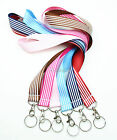 Ribbon Neck Lanyard with Keychain for ID Badge Holder, Cell Phone, Key