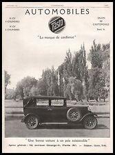 Publicité FASTO Automobile  car vintage print ad  1926 -6I