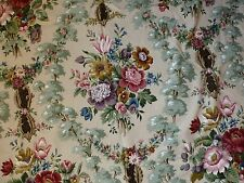 Vtg SANDERSON Chatsworth floral fabric 3.6m unused cut length (several avail)