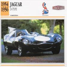 1954-1956 JAGUAR D-Type Racing Classic Car Photo/Info Maxi Card