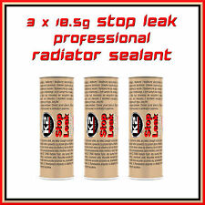 3 x 18.5g Radiator Sealant Pro Cooling System Additive Stop Leak Anti Corrosion