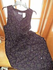 Ladies Erica & Co. long purple cotton corduroy shift dress/jumper..Sz.M.