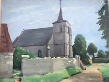 tableau Celine TABARY (1908-1993) Hesdigneul Boulogne sur mer américaine Calais