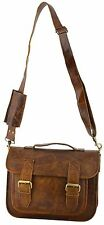 Real leather vintage messenger brown india soft satchel sling evening casual bag