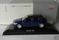 Audi A3 Dark Blue 4 Door 1/43 Minichamps in Dealer Box