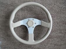 "Dino Steering Wheel 3 Spoke Italy Cream 13 3/4"" Deno Aluminum"