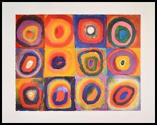 Kandinsky Eckige Kreise Poster Kunstdruck Bild mit Alu Rahmen in schwarz 60x80cm