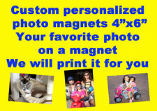 "CUSTOM MADE PERSONALIZED 4""X6""  REFRIGERATOR FRIDGE MAGNET PRINTS MAGNETS 15ml"
