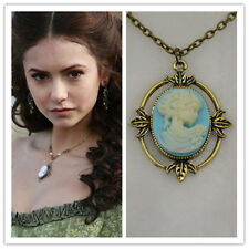 VAMPIRE DIARIES INSPIRED VINTAGE CAMEO NECKLACE VICTORIAN PENDANT GIFT UK