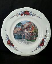 "Vintage Sarreguemines France ""Obernai"" Faienceries ceramic plate 10"""
